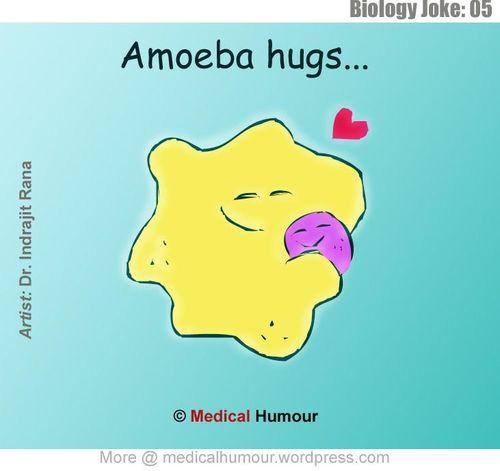 Amoeba hugs medical humor